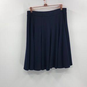 ⭐️INC Navy Blue Banded Circle Skater Skirt